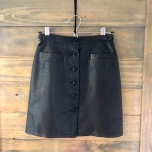 Cache - Vintage Black Leather Mini